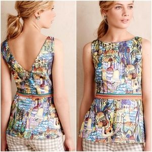 { Anthropologie } Cityscapes Peplum Top